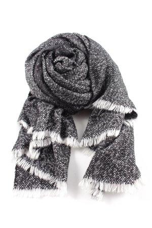Zara Sciarpa lavorata a maglia nero-bianco puntinato stile casual