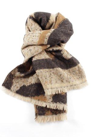 6fe97bf37eeeaa Zara Knitted Scarf bronze-colored-cream flecked casual look