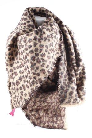Zara Bufanda de punto estampado de leopardo mullido