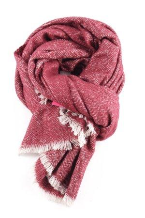 Zara Bufanda de punto rojo-blanco look Street-Style