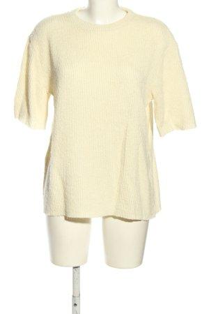 Zara Strickshirt blassgelb Casual-Look
