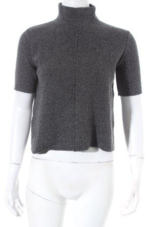 Zara Strickshirt grau meliert minimalistischer Stil