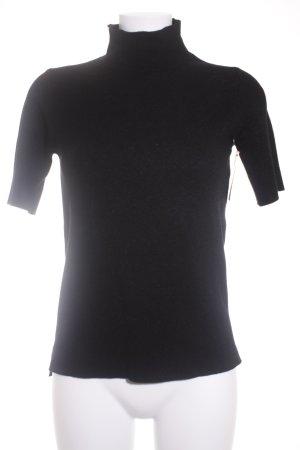 Zara Strickshirt schwarz schlichter Stil
