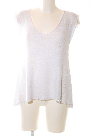 Zara Top lavorato a maglia bianco stile casual