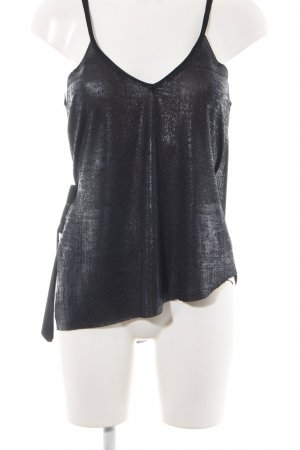Zara Gebreide top zwart casual uitstraling