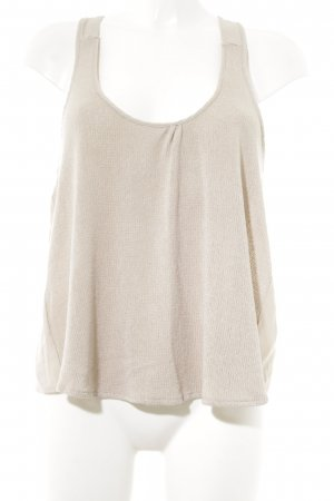 Zara Knitted Top beige Boho look