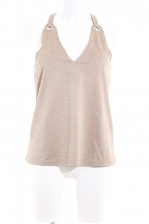 Zara Knitted Top cream flecked casual look