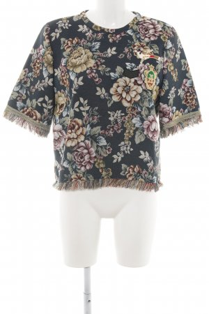 Zara Top lavorato a maglia motivo floreale stile casual