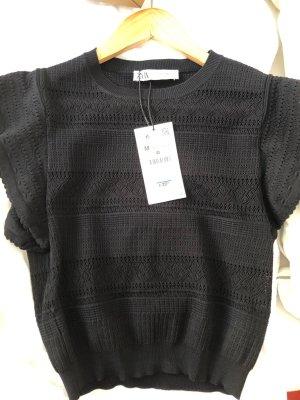 Zara Haut tricotés noir viscose