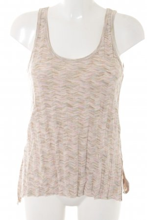 Zara Knitted Top graphic pattern casual look