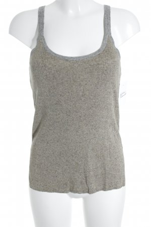 Zara Knitted Top grey brown-light grey flecked casual look