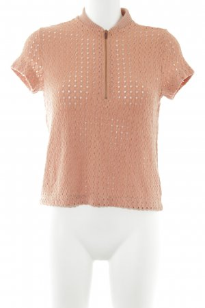 Zara Knitted Top light orange '80s style