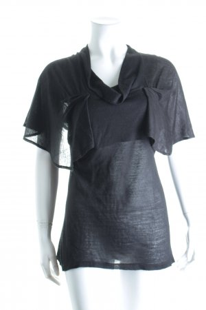 Zara Stricktop schwarz Casual-Look