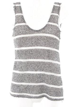 Zara Top lavorato a maglia nero-bianco puntinato stile casual