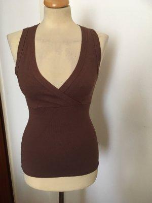 Zara Top lavorato a maglia marrone-marrone chiaro