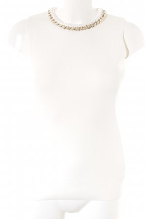 Zara Knitted Top white Plastic elements