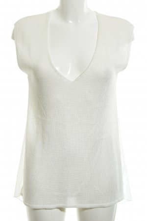 Zara Knitted Top natural white beach look