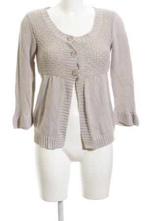 Zara Smanicato lavorato a maglia beige stile casual