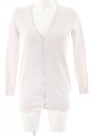 Zara Knitted Vest cream weave pattern casual look