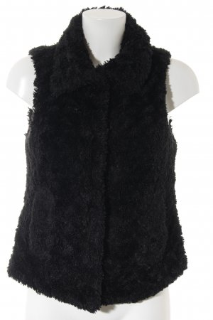 Zara Gebreid vest zwart casual uitstraling