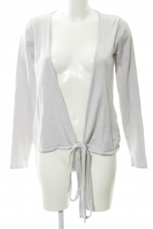 Zara Knitted Wrap Cardigan light grey wrap look
