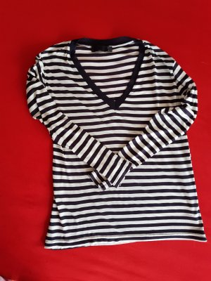 Zara stripes navy blue top M