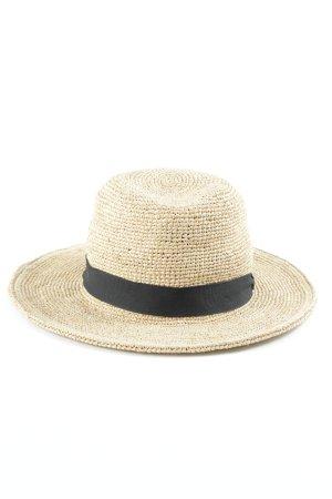 Zara Cappello di paglia sabbia-nero stile spiaggia