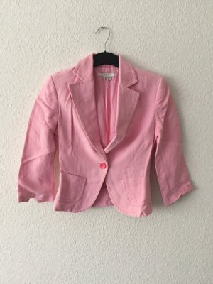 Zara Strukturoptik Blazer rosa 36