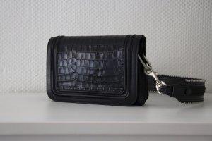 Zara Sac bandoulière noir-argenté