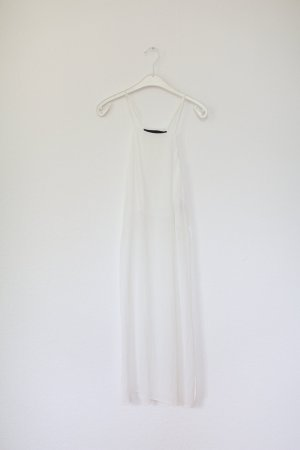 ZARA Studio Tunika Bluse weiß Lonbluse Kleid Sheer Gr. M