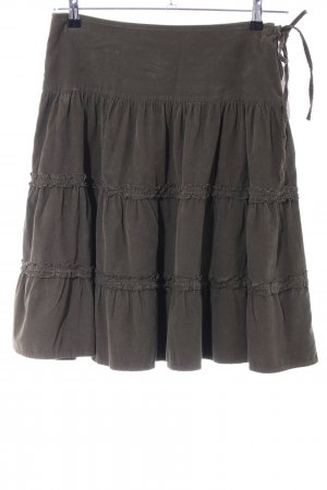 Zara Falda gitana marrón look Street-Style