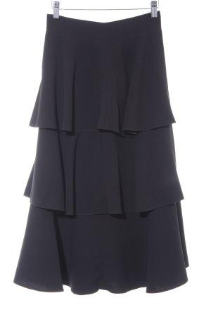 Zara Broomstick Skirt black elegant