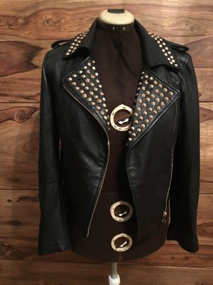 Zara Leather Jacket black leather