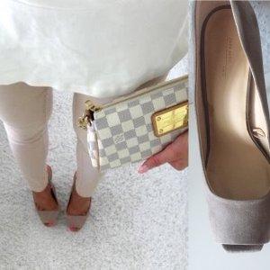 Zara suede Heels stiletto Peeptoes Nude