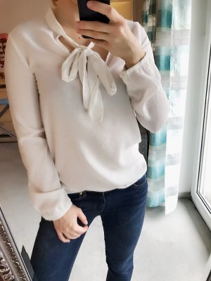 Zara Tie-neck Blouse white