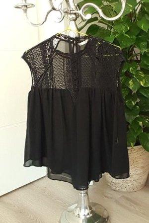 Zara Camisa tejida negro