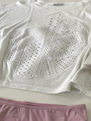 ZARA süßes oversize Shirt Loch Stickerei M 38