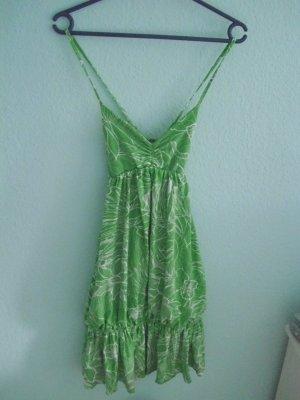 zara süßes sommerkleid grün