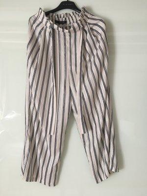Zara Basic Pantalone boyfriend multicolore Cotone