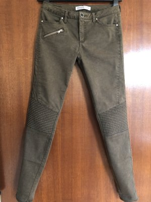 Zara Super Stretch, Second Skin Jeans, khaki-farben