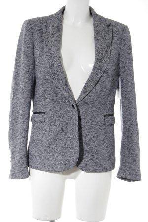 Zara Sweat Blazer dark blue-natural white flecked business style