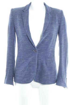 Zara Sweatblazer stahlblau-wollweiß meliert Casual-Look