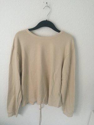 Zara Sweater mit Schnürung am Rücken Nude