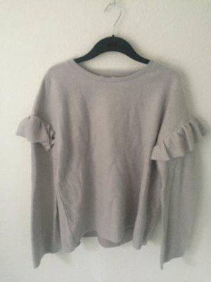 Zara Sweater mit Volants Grau