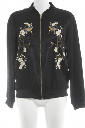Zara Sweat Jacket floral pattern casual look