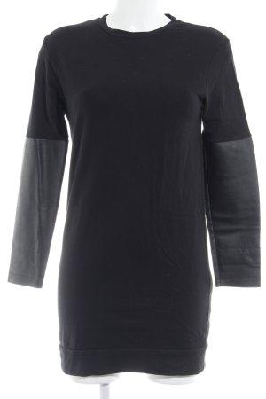 Zara Vestido de tela de sudadera negro look casual