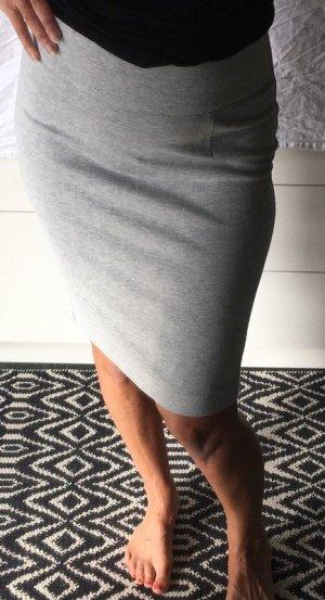 Zara Jupe crayon gris clair-gris