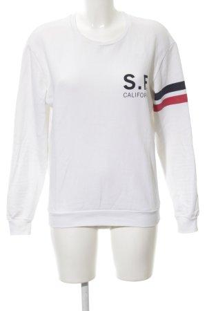 Zara Sweatshirt Schriftzug gedruckt sportlicher Stil