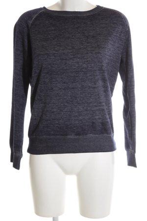 Zara Sweatshirt blau meliert Casual-Look