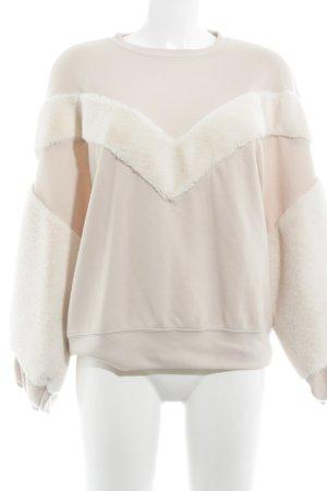 Zara Sweatshirt creme-beige Casual-Look
